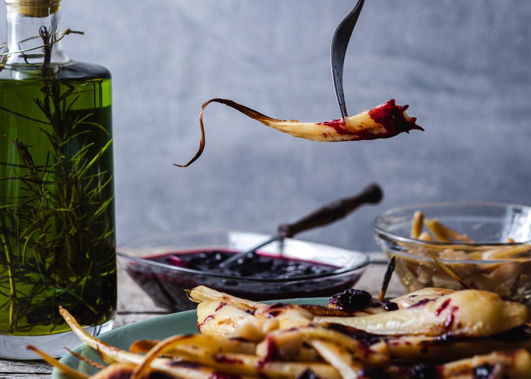 Confit de păstârnac în ulei de măsline cu rozmarin
